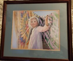 Vintage And039amandaand039 Painting By Nancy Noel Matted Framed And Signed