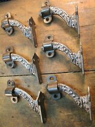 Lot Of 6 Antique Victorian Stair Railing Brackets
