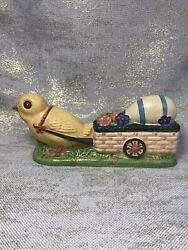 Vintage House Of Hatten Easter Chicken Cart With Egg