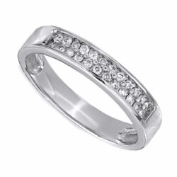Menand039s 1/4 Ct. T.w. Diamond Wedding Band In 10k White Gold