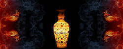 18 Antique Marble High Quality Inlay Work Decorative Flower Vase Gift Fine Arts