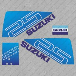 Suzuki Dt25 25hp Two Stroke Outboard Engine Decals Sticker Set Reproduction