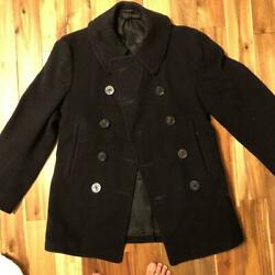 Usnavy Vintage P Coat Jacket Navy Menand039s Outer No Size Notation Rare Old Clothes