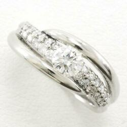 Platinum 900 Ring 14.5 Size Diamond Si2 0.35 About9.7g Free Shipping Used