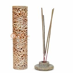 11 Soapstone Incense And Candle Holder Lattice Floral Design Home Decor Gifts