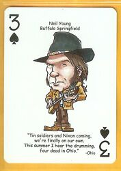 Lot Of 2 Collectible Neil Young Single Swap Playing Cards In Randr Hall Of Fame