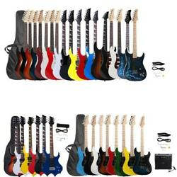 Black White Full Size Electric Guitar Bag and Accessories Pack Beginner Colorful $58.89