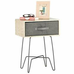 Mdesign Modern Farmhouse Side End Table Rustic Living Bedroom Furniture Gray