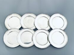 Set Of Eight 8 Sterling Silver 6 Bread Plates By Fisher Silversmith No Mono