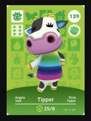 Tipper 129 Authentic Animal Crossing Amiibo Card Mint Series 2