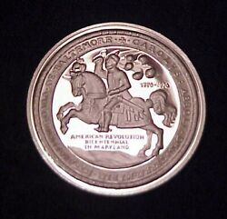 Rare 1975 Amer. Revolution Bicentennial In Maryland 20 Gr 0.925 Silver Proof