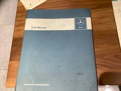 Vintage Official Mercedes Engine And Chassis Test Manual