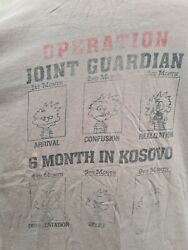 British Army Tour T Shirt Operation Joint Guardian 6 Months In Kosovo Kfor Us L