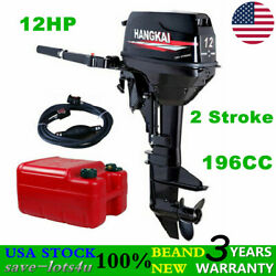 12hp 2 Stroke 169cc Outboard Motor Fishing Boat Engine Cdi Water Cooling