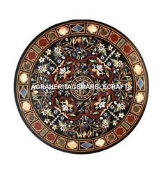 Marble Dining Hallway Table Top Scagliola Inlay Fine Inlay Kitchen Decor H4414