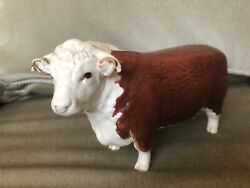 Beswick Champion Of Champions Hereford Bull 1363a Gloss Brown And White