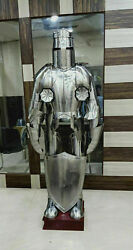 Medieval Knight Suit Of Armor Templar Combat Full Body Armour With Stand