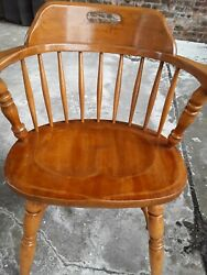 Antique Authentic Furniture Products Oak Jury Lawyer Banker Arm Chair Office