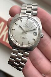 Vintage Omega Seamaster Cosmic Automatic Silver Dial Quickset Steel Case Watch