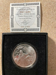 2016 1 Oz 999 Silver Shield Proof Crucible Warrior Round With Coa 398