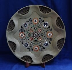 15 Marble Antique Plate Pietra Dura Marquetry Pauashell Fine Work Decor Gifts