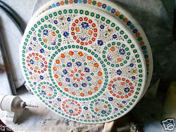 36 Marble Round Table Dining Room Marquetry Decor Floral Inlaid Handmade Decor
