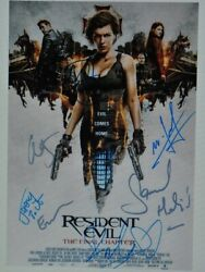 Resident Evil Cast Signed Poster X7 - The Final Chapter - Milla Jovovich 11x 17