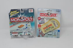 Lot Of 2 Monopoly Toys Flashlight Keychain And Johnny Lighting Collectible Car