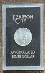 1883 Carson City Uncirculated Silver Dollar Us Mint Packaging
