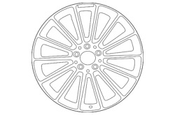 Genuine Mercedes-benz Wheel Alloy 167-401-34-00-7x23
