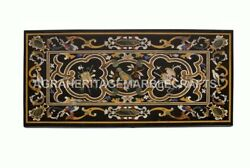 6and039x3and039 Marble Dining Room Table Top Marquetry Parrot Inlay Collectible Decor E590