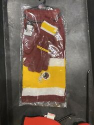 Washington Redskins Nfl Licensed Scarf And Gloves Gift Set With Free Shipping.