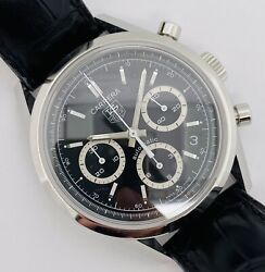 Tag Heuer Carrera Automatic Chronograph Black Dial Stainless Steel Cv2113
