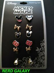 Disney Mickey Mouse And Minnie Mouse Earrings Set New Officially Licensed
