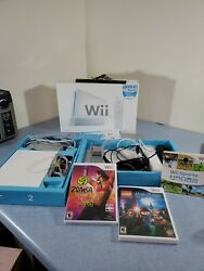 Nintendo Wii White With Wii Sports Lego Harry Potter And Zumba Game Cube Comp.