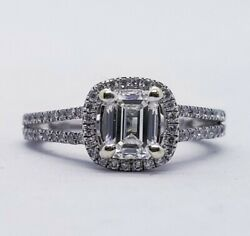 Jared 6500 2.09ct Gia Certified Emerald White Gold Halo Engagement Ring Si-1 J