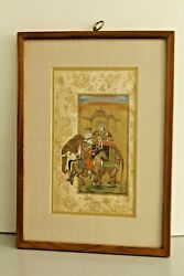 Mughal Miniature Painting Emperor Shahjahan Proposing The Empress With Red Rose