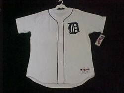 Detroit Tigers Authentic Mlb White Jersey 40 Medium On Field Made In Usa 6200
