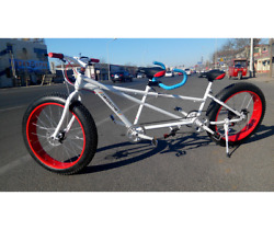 Lanying Two Seater Fat Tire 26in Single Speed Steel Tandem Bicycle New