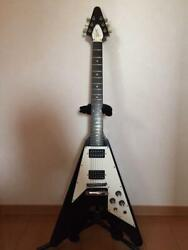 Gibson Flying V 1967 Reissue Electric Guitar Black Maid In 1999 W / Hard Case