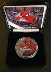 Spiderman Marvel 2017 Ruthenium Plated 1 Oz Silver .9999 Ounce Perth Mint