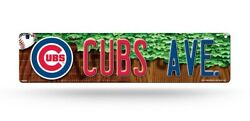 Chicago Cubs Street Sign New 4x16 Cubs Ave. Man Cave Mlb