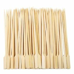 600pcs Bamboo Paddle Barbecue Skewers Buffets Party Cocktail Sticks Bbq Kebabs