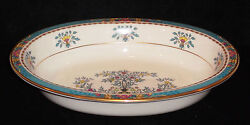 Discontinued Lenox Blue Tree Pattern Large Oval Vegetable Bowl 9 5/8 Long New