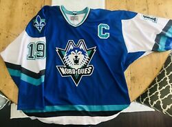 Joe Sakic Quebec Nordiques 1995-1996 The Shelved Wolf Sweater Size 56