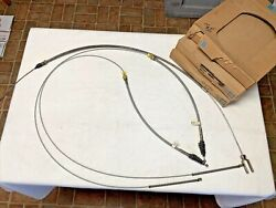 64-65 Pair Nos And 1 Used C-10 Chevy Pickup Emergency Brake Cables
