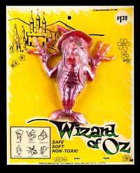 New Vintage 1967 Wizard Of Oz Witch Oily Jiggler Rubber Russ Berrie Moc Rare