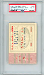 1936 Olympic Ticket 110m Hurdles Towns Wins Usa Gold Psa 8 Pop 1 Non Higher