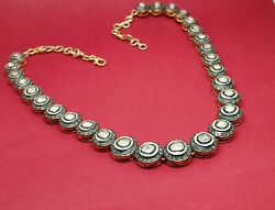 Antique 925 Sterling Silver Victorian Polki Diamond Necklaces Christmas Gifts