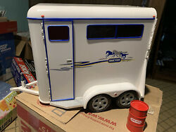 Breyer Authentic Tag-a-long Deluxe 2 Horse Trailer Traditional Series 2002 Used